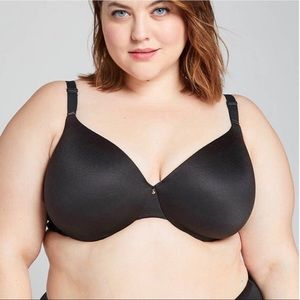 Cacique Lightly Lined Full Coverage Bra Black 44D
